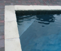 Underwater swimout bench; Midnight grey marbelite