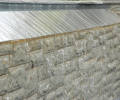 Indian stone facing with silver slate negative edge