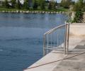 Negative edge pool with custom ladder