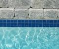 Cobalt blue tile; White marbelite