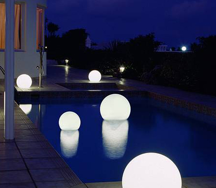 Floating Globe Lights