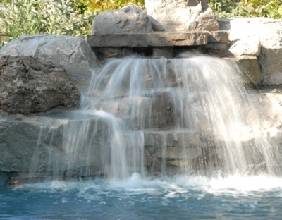 Swimming Pools And Waterfalls Made Of Natural Rocks