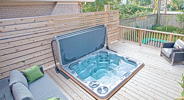 Deck with hot tub ideas for Hot tub deck designs plans