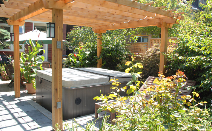 landscaping around your hot tub ForHot Tub Landscape Design