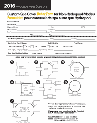 Hot Tub Cover Order Form