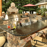 What Elements Are Included in an Outdoor Kitchen?